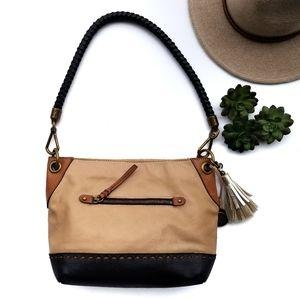 the Sak Leather Tricolor Leather Bag